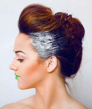 paillettes cheveux