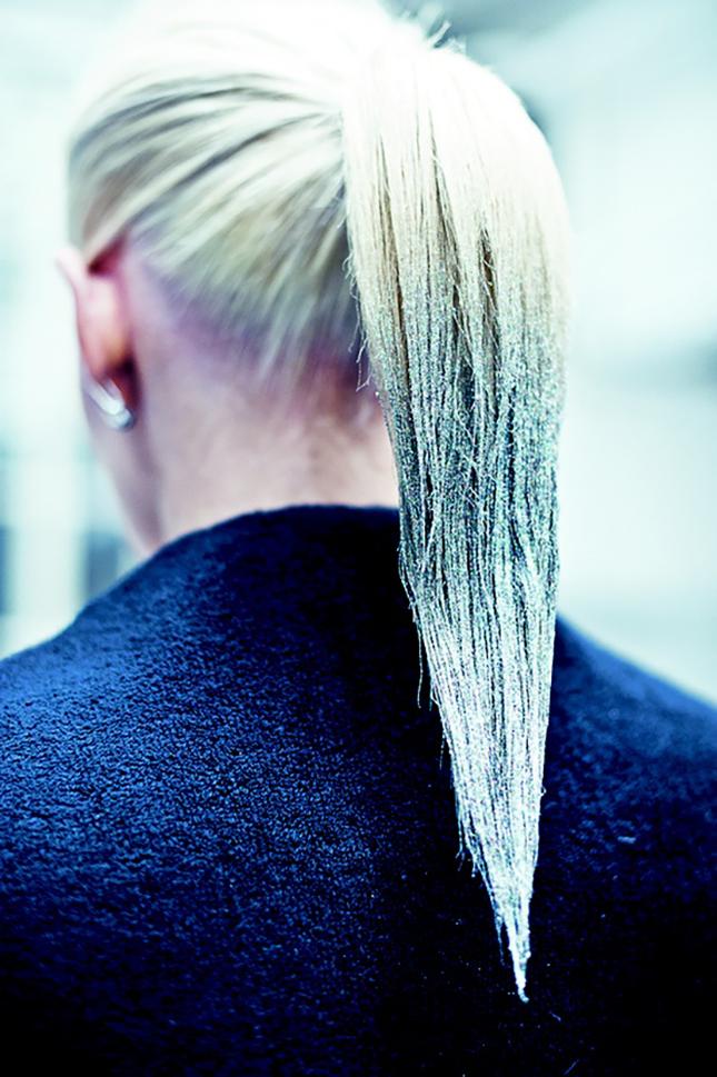 tendance paillettes cheveux