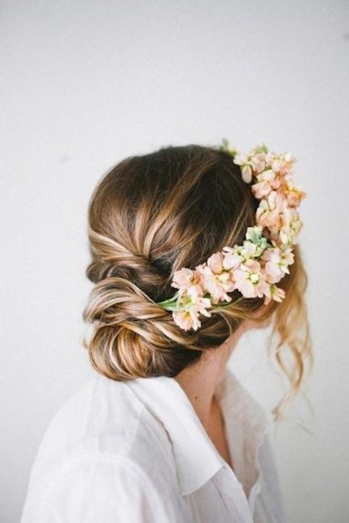 couronnes de fleurs coiffures