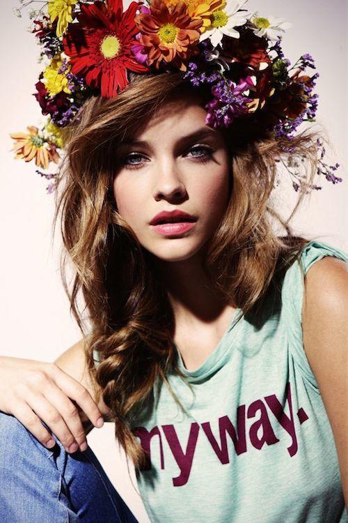 headband beach floral