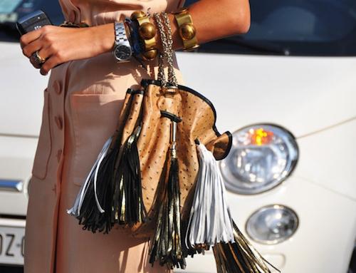tassel bag street style