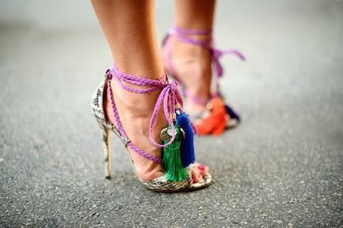 chaussures a pompons pomponage de garde-robe