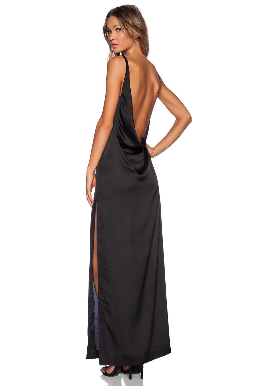Solace London robe longue noire