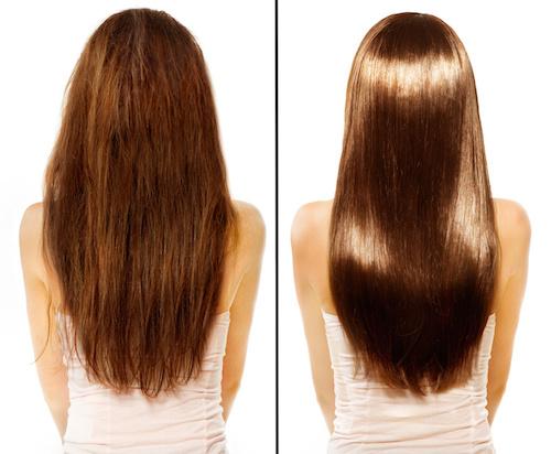 gloss cheveux salon