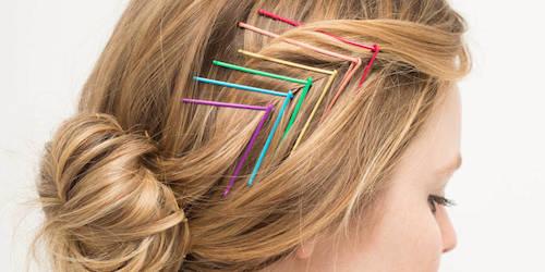 coiffure avec barrettes
