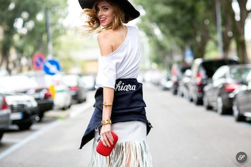 street style chapeaux noir chiara ferragni