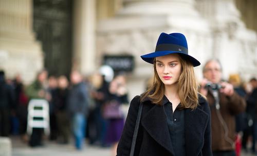 street style chapeaux maison michel bleu