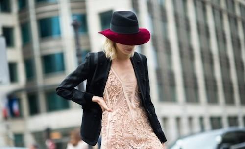 street style chapeau maison michel noir