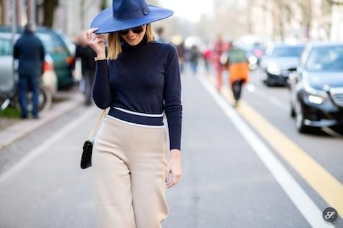 street style chapeaux bleu