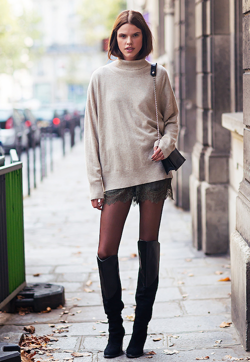 street style cuissarde en cuir