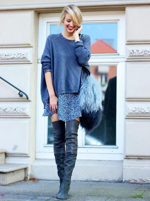 bottes noires en cuir street style