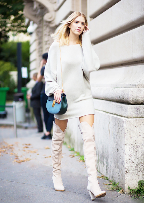 bottes street style blanche