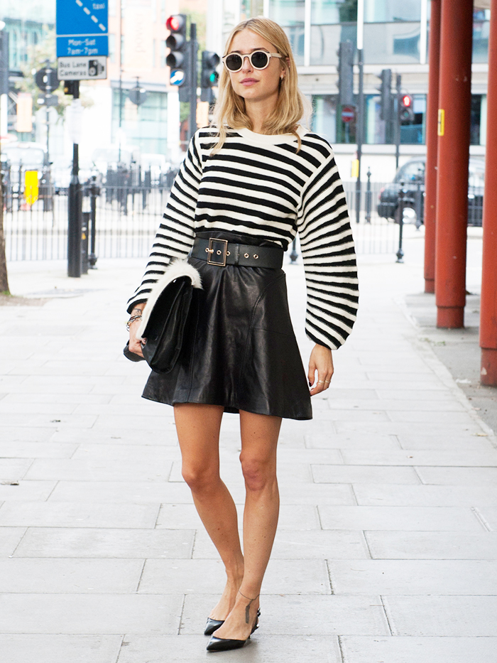 lookde pernille street style black and white