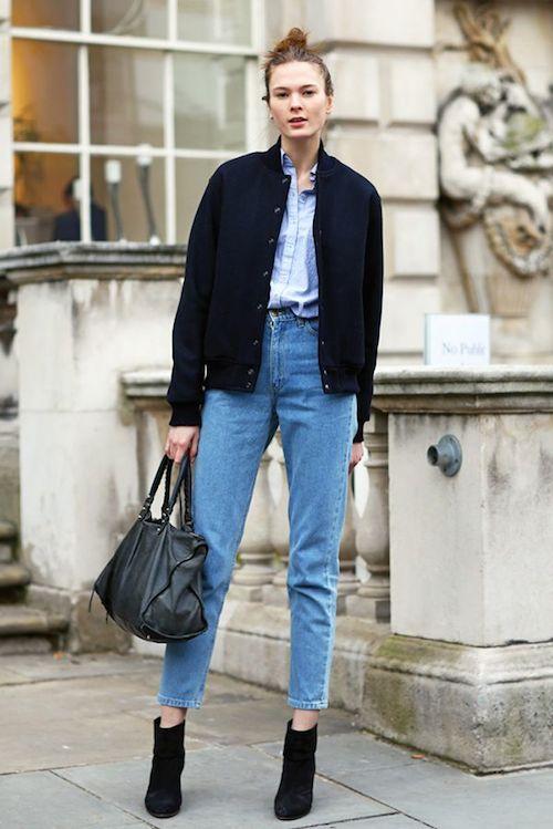 street style mom jean