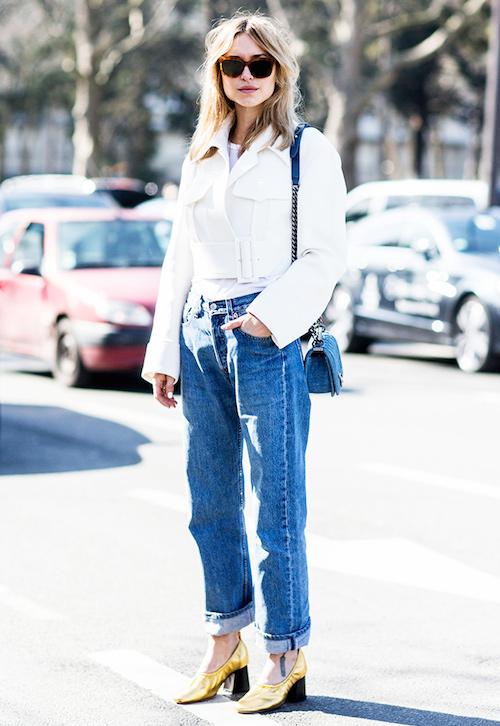 street style blue jean mom look de pernille