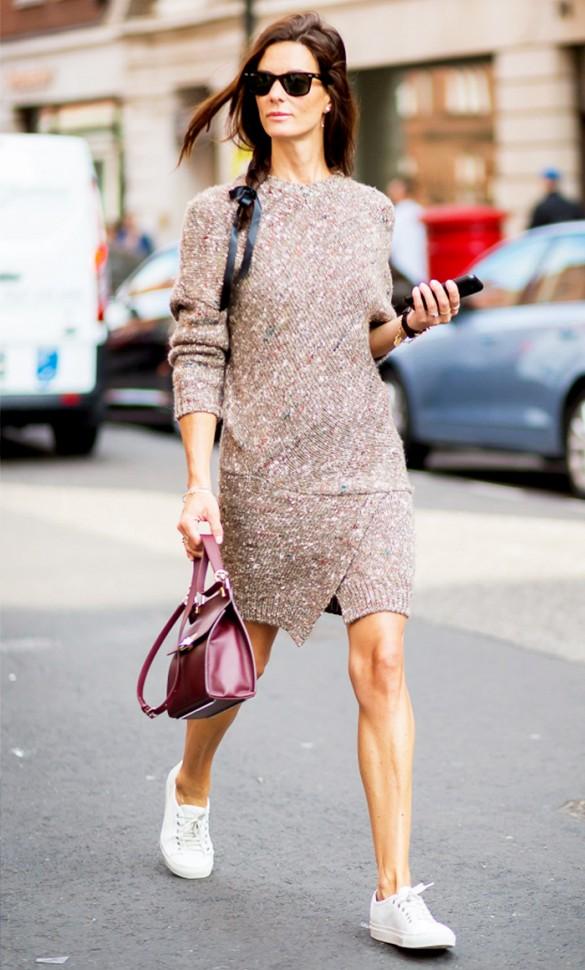 La plus belle façon de s'habiller cet automne : la robe pull