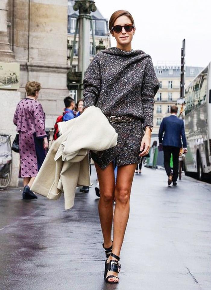 street style robe sandales