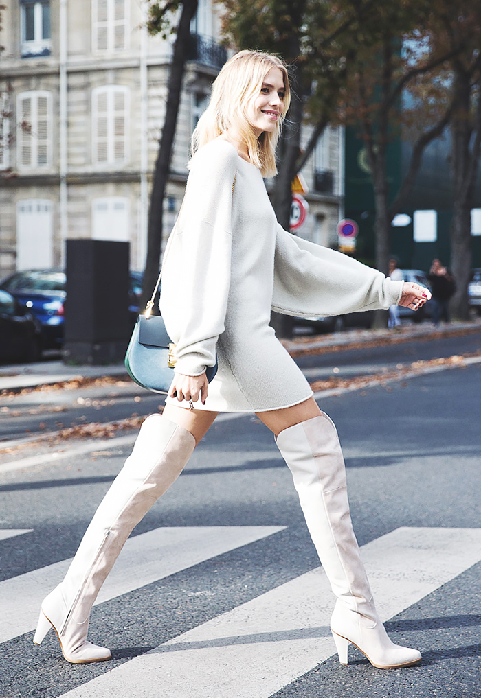 street style robe pull cuissardes