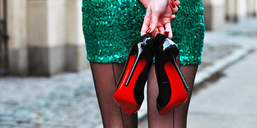 louboutin chaussures street