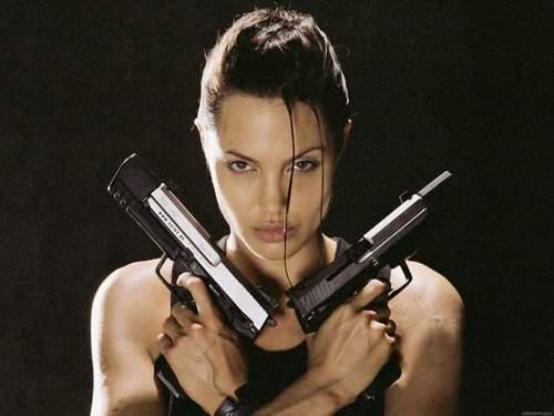 lara croft fusil