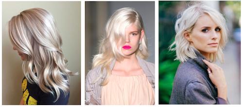 blond platine photo cheveux