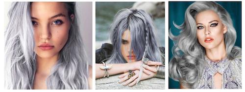 cheveux gris nouvelle tendance