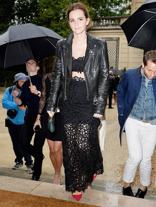 street style dentelle noire jupe et top