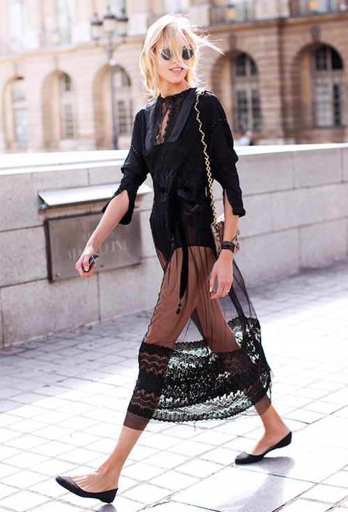 street style dentelle noire