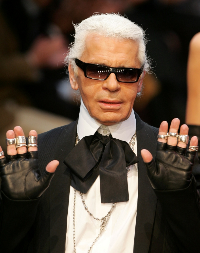 noeud lavalliere karl lagerfield