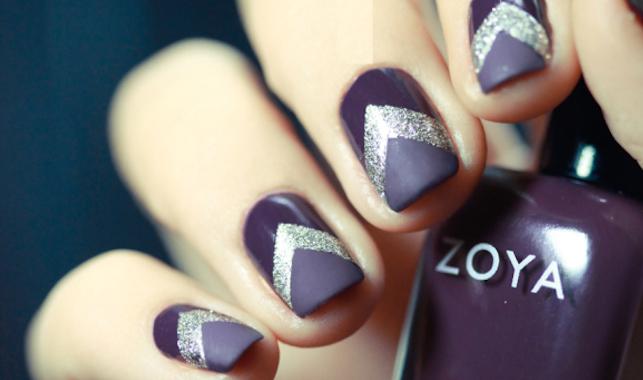 Le nail art de la semaine #6 : chevrons et paillettes