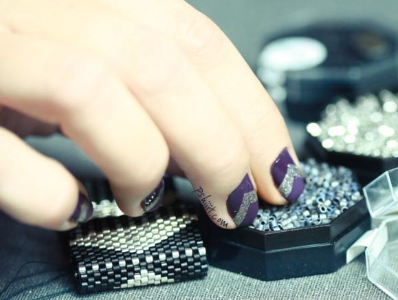nail art violet tuto