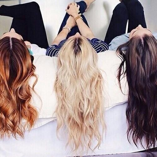 filles cheveux longs