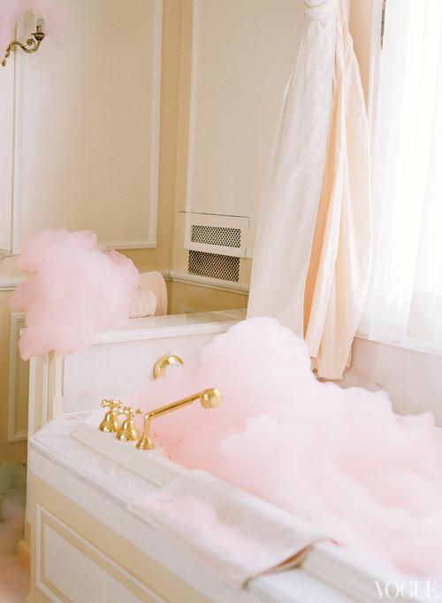bain mousse rose