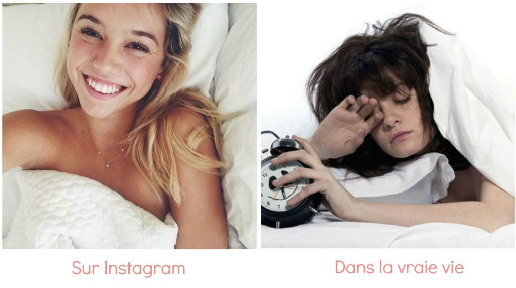 différence réveil instagram et vie