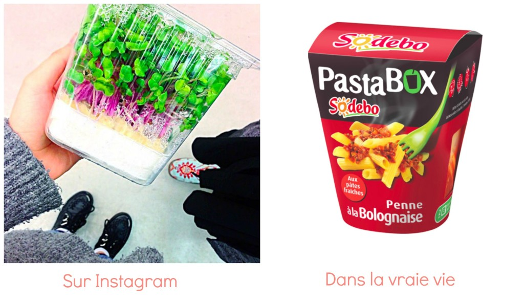 instagram vs réalité lunch box
