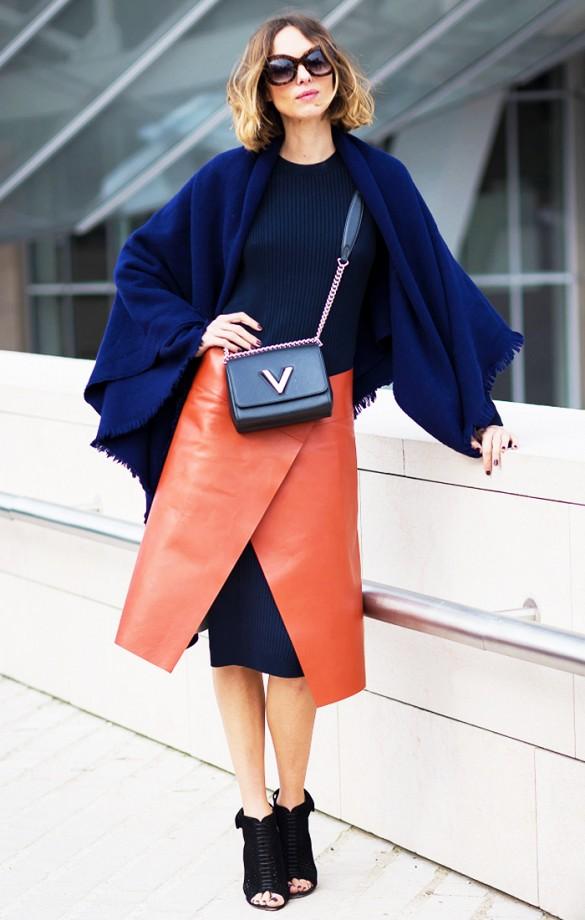 La jupe portefeuille : Emballée pour l'automne