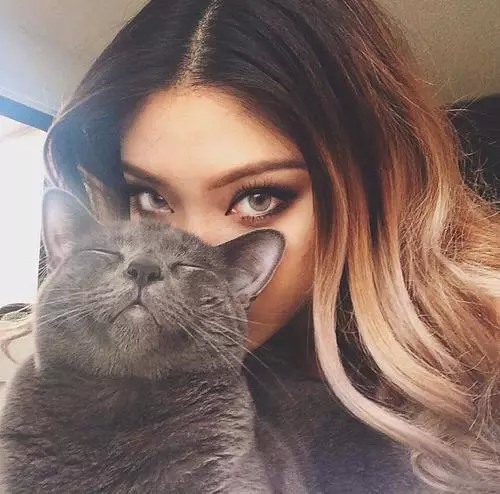 girl with cat traduction