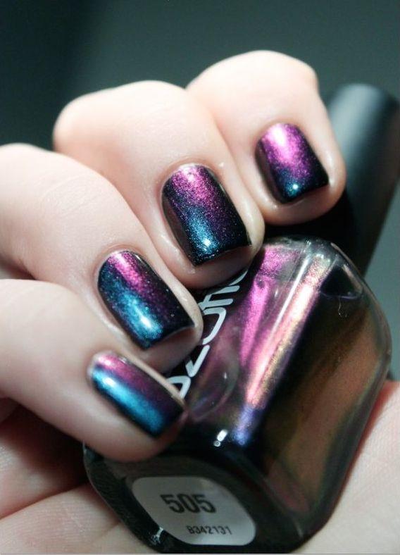 vernis métallisé tons violets