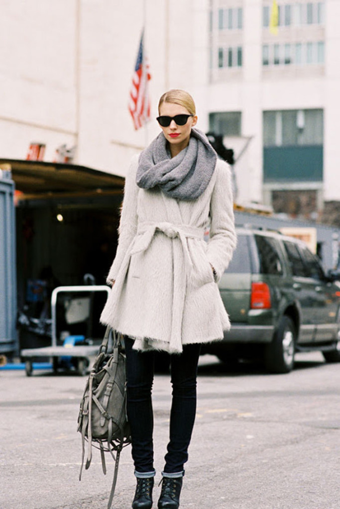 street look street style snood maille col écharpe tubulaire