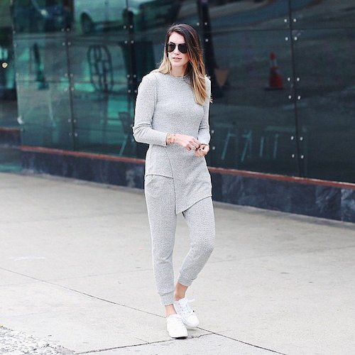 street style look tout gris