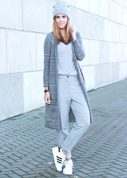 street style look gris