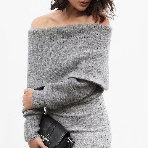 street style robe grise Groutfit