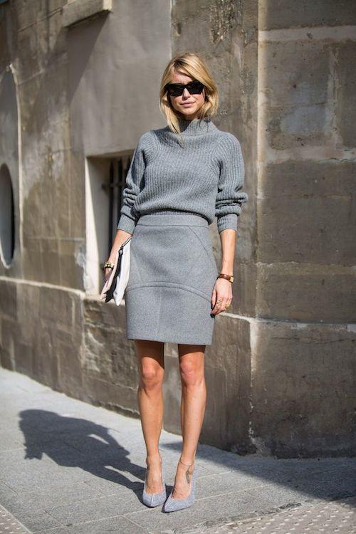 look street style gris