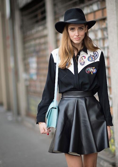 Street style jupe chaira ferragni