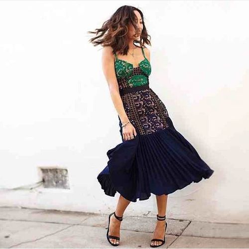 robe en dentelle street style