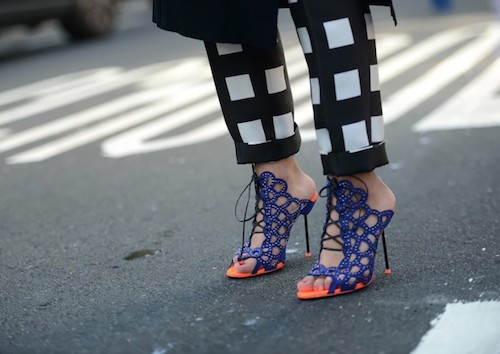 street style shoes blue