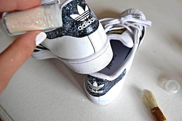 Custom DIy Stan Smith glitter