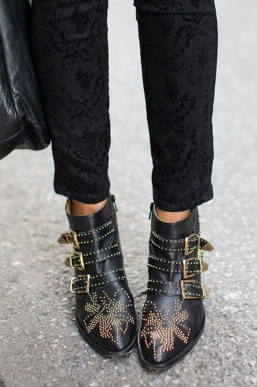 chaussures à boucles street style