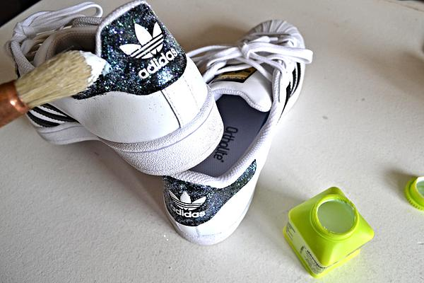 Tuto DIY paillette talon Stan Smith