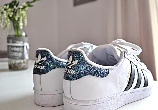 basket glitter paillette customisées Stan Smith